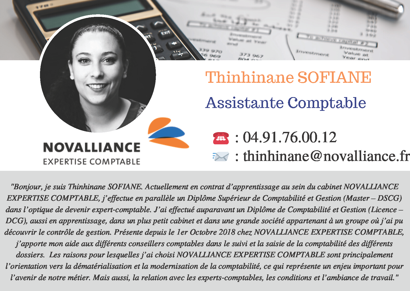 Fiche Assistante Comptable Thinhinane SOFIANE