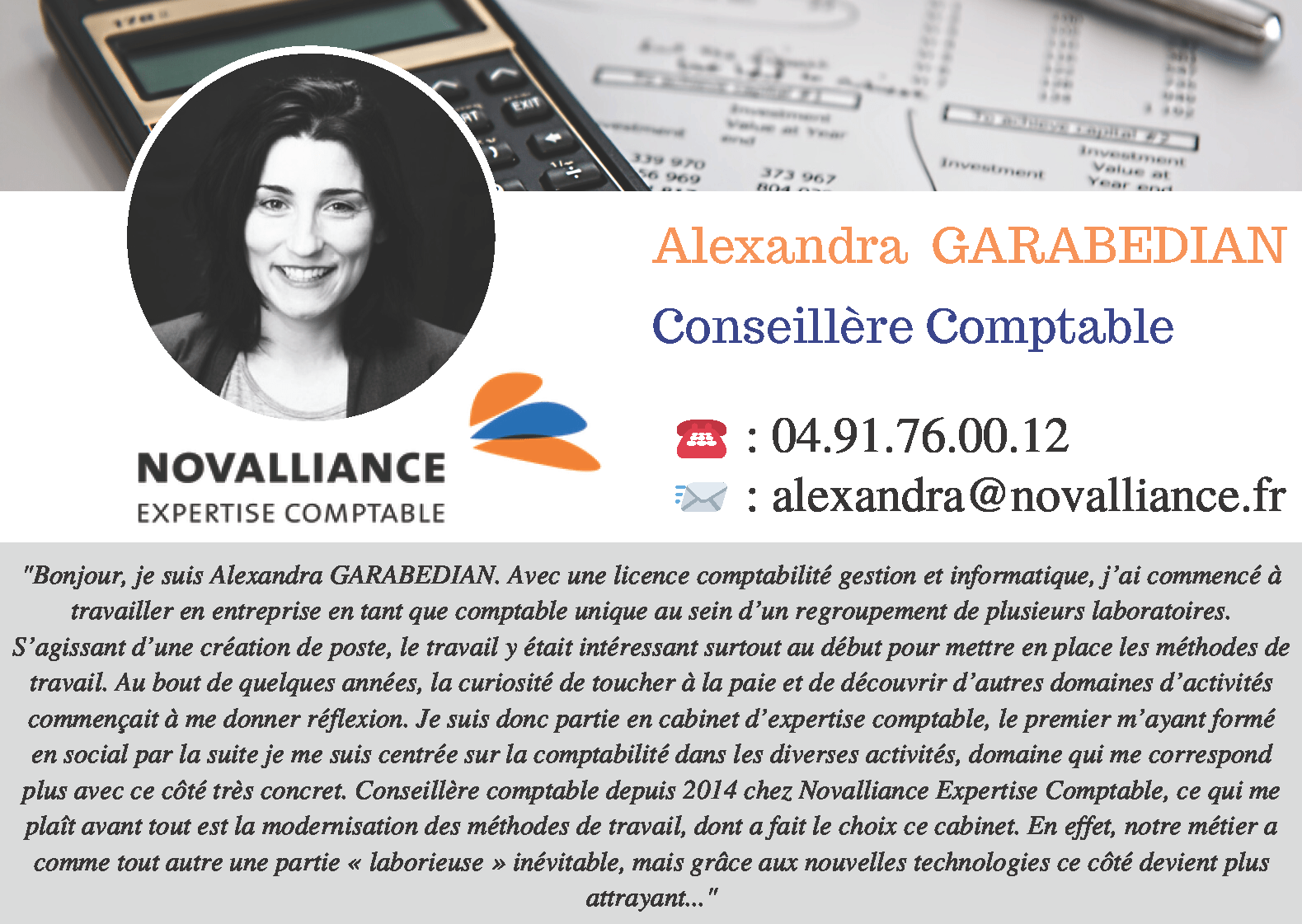 Fiche Conseillère Comptable Alexandra GARABEDIAN