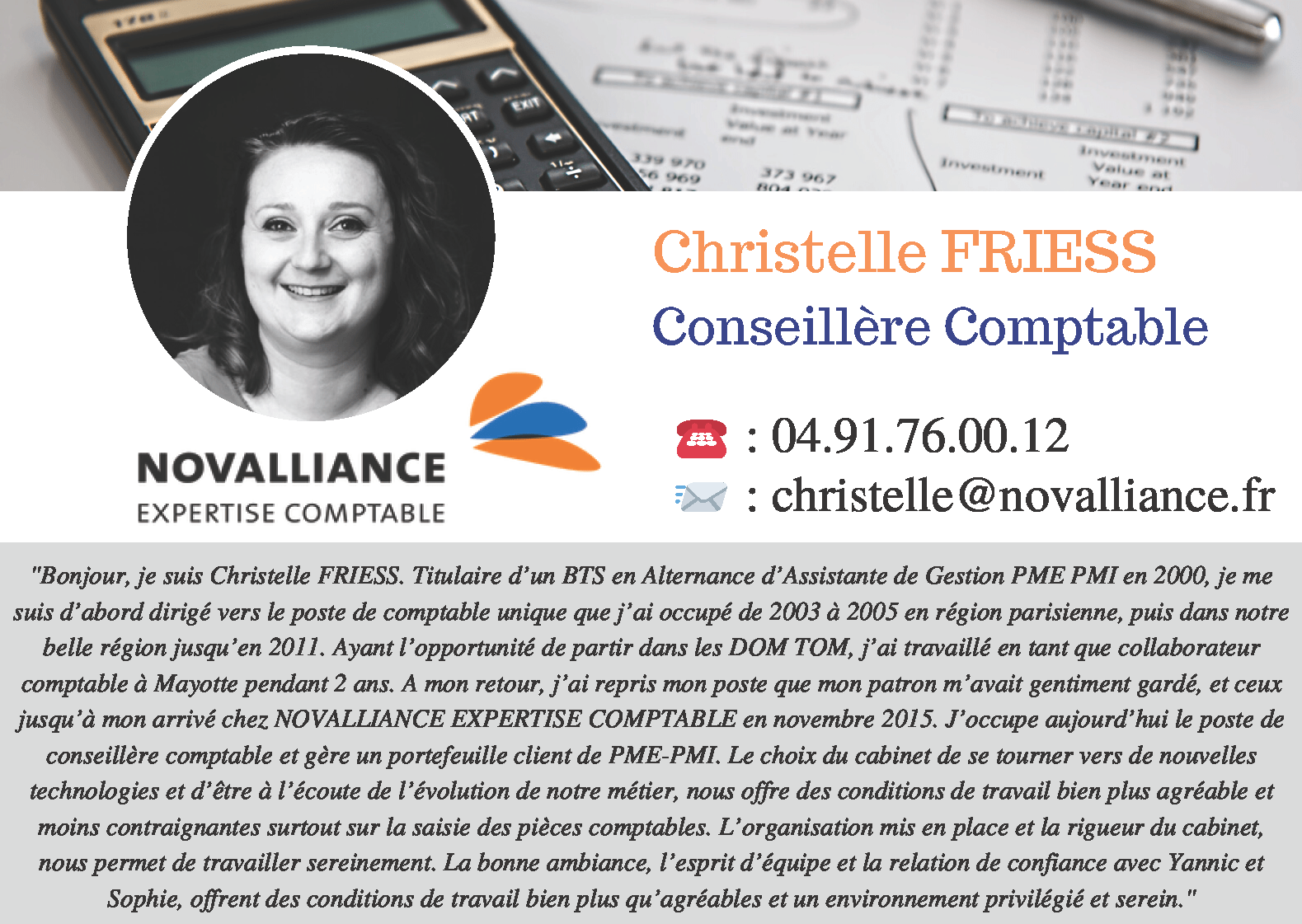 Fiche Conseillère Comptable Christelle FRIESS