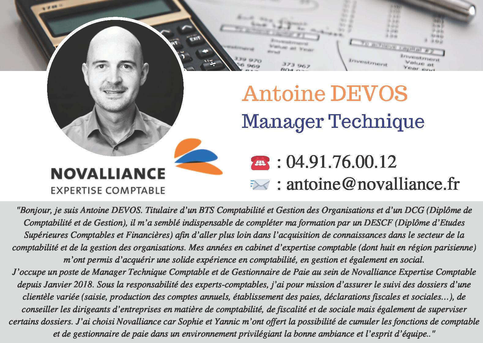 Fiche Conseillère Manager Technique Antoine DEVOS