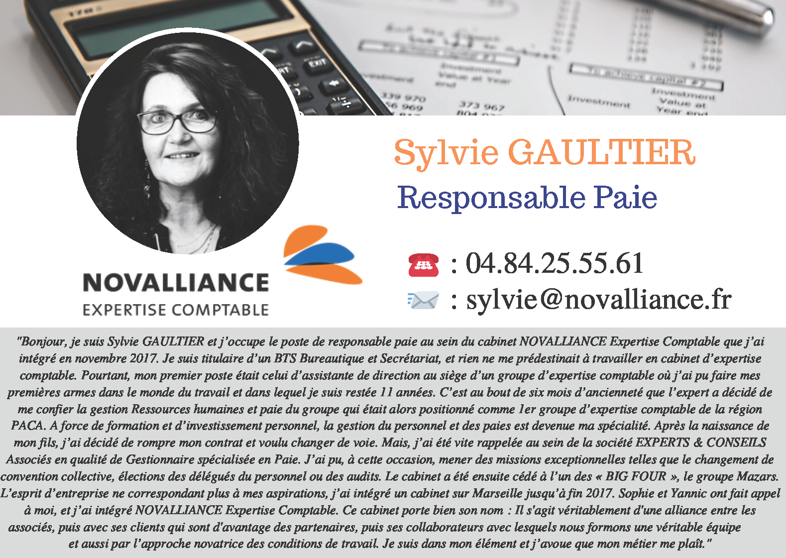 Fiche Responsable Paie Sylvie GAULTIER