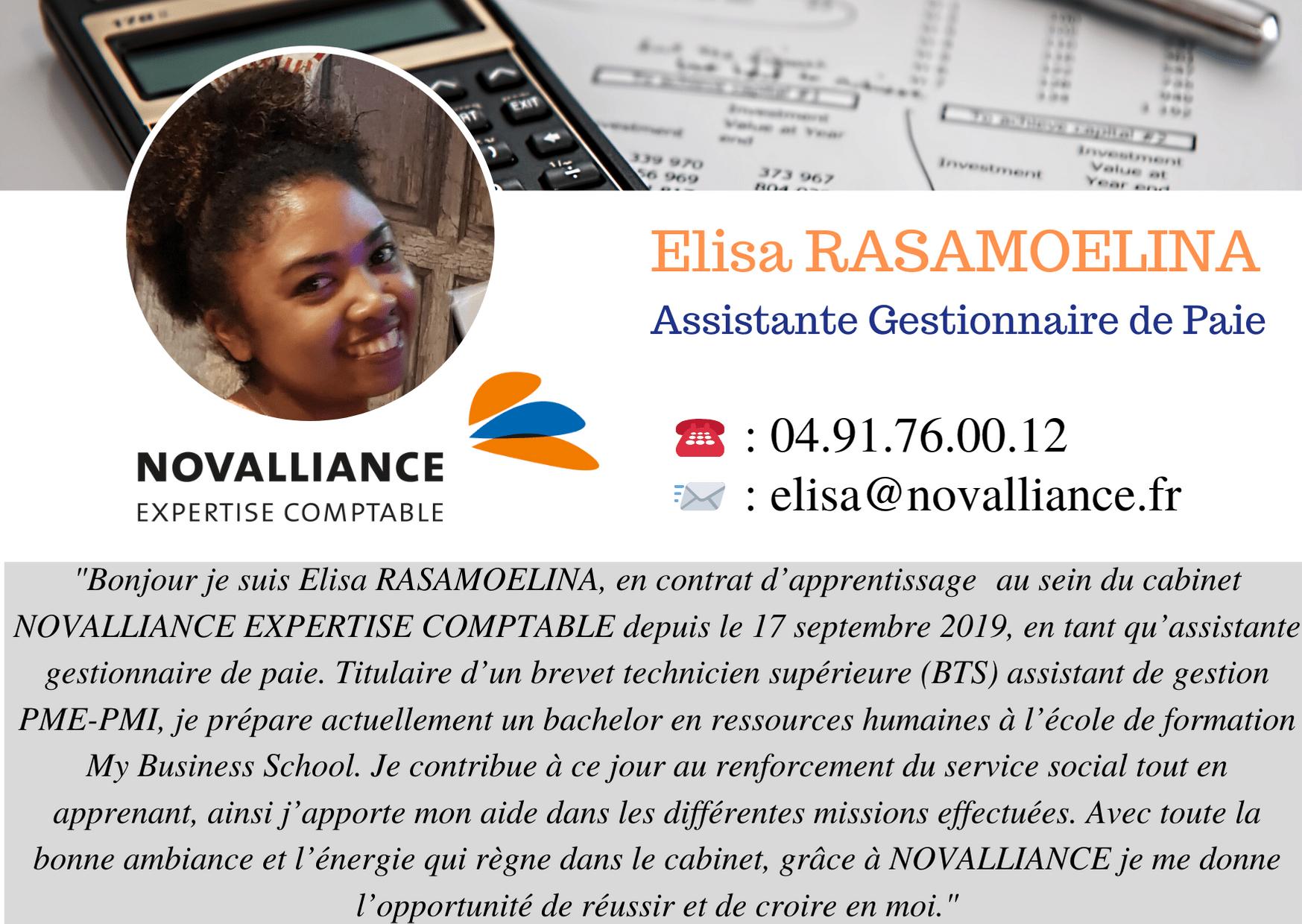 Fiche Assistante Gestionnaire de Paie Elisa RASAMOELINA